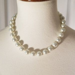 George Faux Pearl Necklace
